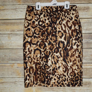 Merona Animal Print Pencil Skirt